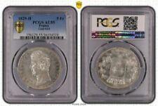Pièces de monnaie françaises de 5 francs 5 francs en argent sur Charles X