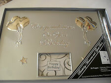 Silver Birthday Guest Book With Pen 16th 18th 21st 30th  50th 60th 70th 80th