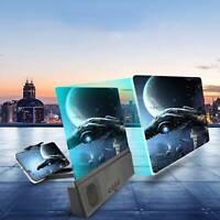 "12"" Thin Mobile Phone Amplifier 3D Screen Magnifier HD Video Stand Bracket"