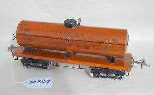 Stock #303 Ives 190 Standard Gauge Tank Car Orange Original 1923