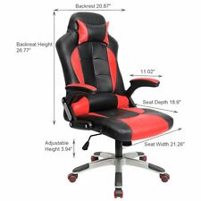 Red Gaming Chair High-back Computer Chair Ergonomic Design Racing Chair RC1