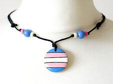 Transgender Necklace Pendant Pride Flag ftm mtf Trans Symbol Gift Wooden Jewelry