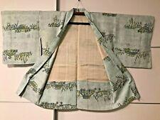 JAPANESE KIMONO JACKET (HAORI) LIGHT GREEN GIACCA GIAPPONESE STUPENDA!! $$$$$
