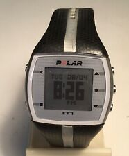 Polar FT7 Gents Navy Black w/Silver Stripe Watch Only NO HR Band Large Band