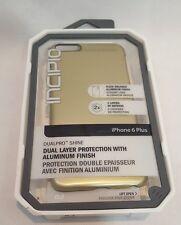 Authentic Incipio DualPro Shine Case for iPhone 6 Plus/ 6s Plus - Gold / Black