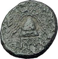 ALEXANDER III the Great 325BC Macedonia Ancient Greek Coin SHIELD HELMET i61370
