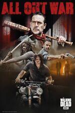 The Walking Dead All out War negan Rick Affiche 91.5X61CM New Official Merch