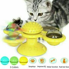 New listing Cat Turning Windmill Turntable Tickle Kitten Scratch Hair Brush Pet Funny Toys