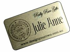 Self Adhesive NAME PLATE nameplate PRINTED 7 x 3.5cm trophy photo frame plaque