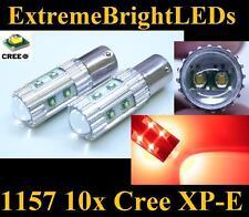 TWO Brilliant RED 50W 10x Cree XP-E 1157 2357 Turn Signal Brake Stop Lights