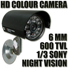 """Out In door CCTV Security Camera Built-in 1/3"""" SONY HD CCD Weatherproof 600TVL"""