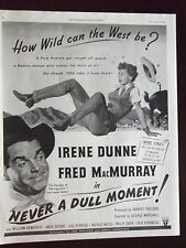 1950 Never A Dull Moment Irene Dunne Fred MacMurray Original Movie Advertisement