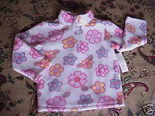 NWT* Toddler Girls Soft Fleece Floral Half Zip Top 12 m