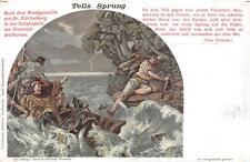 WILLIAM TELL TELLS SPRUNG SWITZERLAND HANDSTAMP POSTCARD (c. 1910)