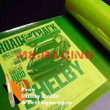 """*12""""x60"""" Neon Yellow Protective Tint Headlight Taillight Fog Lights Vinyl Film"""