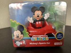 Disney Mickey Mouse ClubHouse Mickey's Sports Car & Figure Pack New Fisher Price