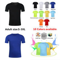 Men's Women Mesh Tee T-Shirt Crew Neck Plain Casual Short Sleeve Quick Dry Tops