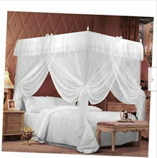 4 Corners Bedding Curtain Canopy Netting Twin Full Queen King (Full/Queen)