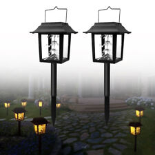 2 Packs Outdoor Solar Led String Lights Hanging Lantern Yard Garden Decor Lamp