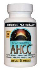 Source Naturals AHCC 500mg w/Bioperine 60 caps Exp 2/2021