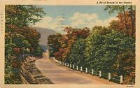 Missouri MO Road though the Ozarks PM 1949 Postcard