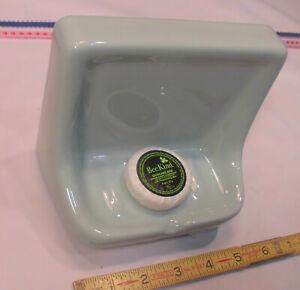 "Glossy *Seafoam Green* Ceramic Soap Dish for tub or shower, Daltile ""Spa""  New"