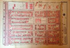 1955 SPANISH HARLEM E12TH-133RD STREET MANHATTAN NY G.W. BROMLEY ATLAS MAP 12X17