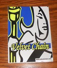Velvet Chain Sticker Decal Rectangle Promo 6x4