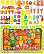 Küchenspielzeug 90-Teile Plastik Essen Obst Gemüse Rollenspiele Kinder 8234