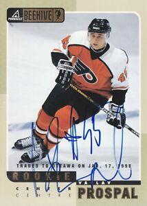 Vaclav Prospal Autograph 97-98 Beehive 5 X 7 Flyers Rookie Card Lightning