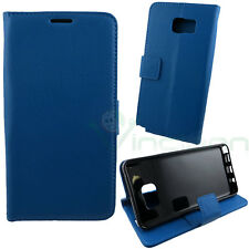 Custodia FLIP cover stand BLU per Samsung Galaxy Note 5 N920i libretto BOOKLET