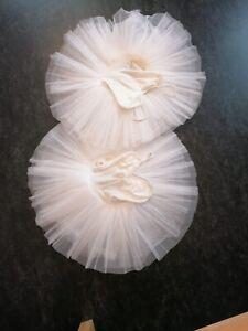 Tutu Gr. 3 ca. 32 Weiss 8 lagig Kostüm Ballett
