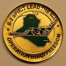 B-2 Spirit Stealth Bomber Op Iraqi Freedom 2003 Air Force Challenge Coin