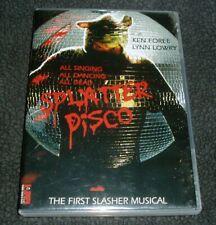 Splatter Disco DVD Cult Horror Slasher Musical Camp B Movie Campy Lynn Lowry