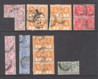 BRITISH COLONIAL MULTIPLES CANCELS COLLECTION LOT 29 STAMPS