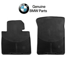 For BMW E46 3 Series Front Black Rubber All Weather Floor Mats Genuine