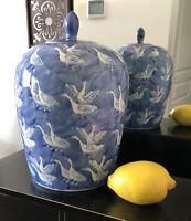 Ginger Jar Ducks Geese Big Chinese Vase