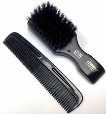 Mini Soft Club Brush 100% Pure Boar Bristles Beard Moustache Pocket Comb Set