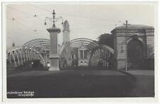 1930's Singapore - REAL PHOTO Anderson Bridge - Vintage Postcard Asia Postcard