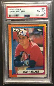 1990 Topps Larry Walker #757 PSA 8 NM-MT RC Rookie Expos