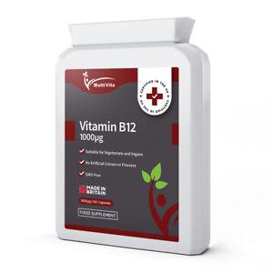 Vitamin B12 Methylcobalamin 1000mcg Capsules High Strength - Tiredness & Fatigue