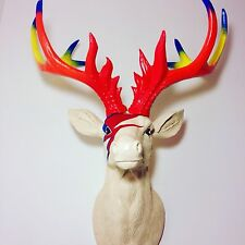 LARGE Unique decoration Stag Head Taxidermy Deer 'David Bowie'
