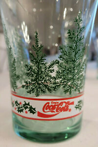 Set of 4 Vintage Libbey Coca Cola Christmas Glasses - Pre Owned