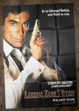 James Bond 007 Licence To Kill - VERY LARGE GERMAN POSTER 118cm x 83cm (2)