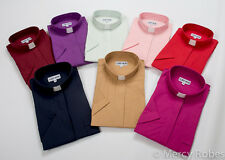 Women's Clergy Shirt, Short Sleeves, Tab Collar, Multiple Color Options