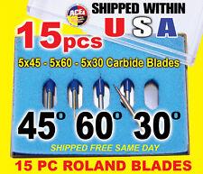 15 pc 30 45 60 degree Roland GCC Cutting Plotter Vinyl Cutter Blade Knife Blades