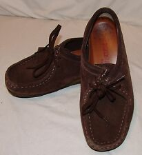 Clarks Original Wallabee Shoes 8 M Brown Leather Womens Shoe Boots Chocolate