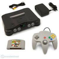 N64 / Nintendo 64 - Konsole + Mario Kart + Controller + Zub.