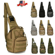 Men Backpack Molle Tactical Sling Chest Pack Shoulder Bag Outdoor Hiking Travel