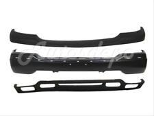 For 2000-2006 GMC YUKON XL FRONT BUMPER BLACK UP CAP VALANCE W/FOG HOLE 3PC